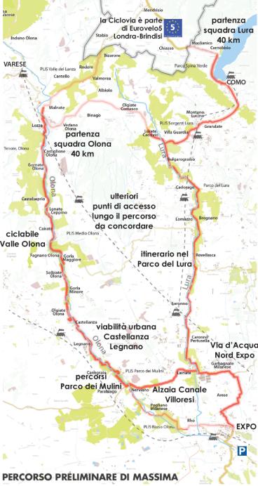percorso ciclovia